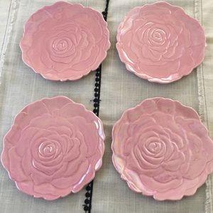 Rose Dessert Plates